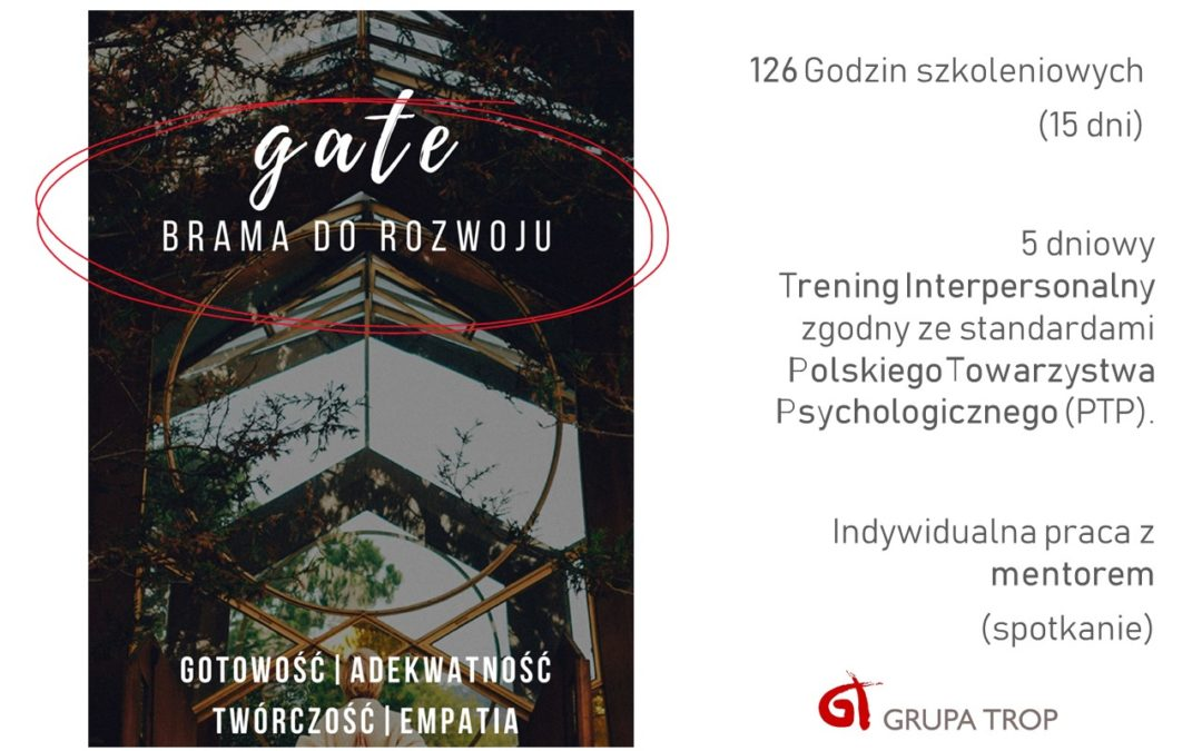 Otwieramy nową grupę GATE – 16.11.2019 – chcesz dołączyć? nie zwlekaj!