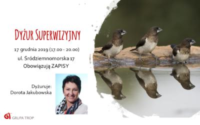 Dyżur superwizyjny – 17.12.2019, 17.00-20.00
