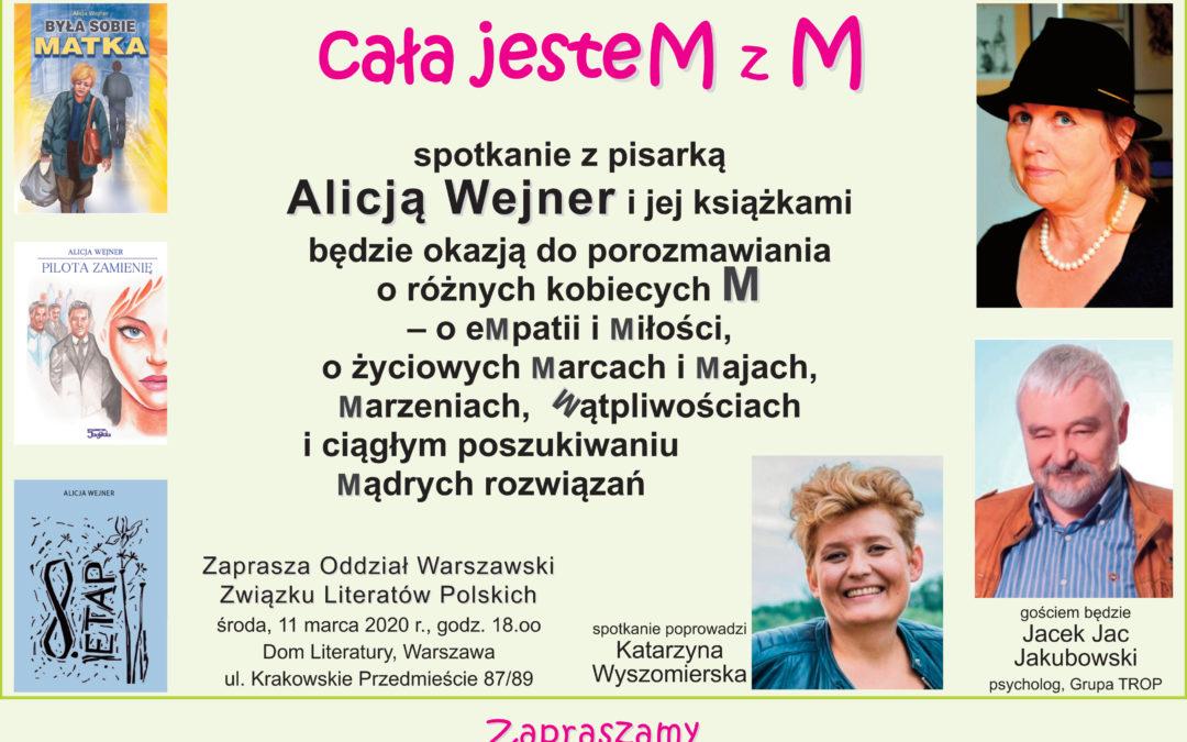 """Jacek Jakubowski gościem spotkania nie tylko dla kobiet, czyli """"Cała jesteM z M"""" – 11.03.2020 godz. 18.00"""