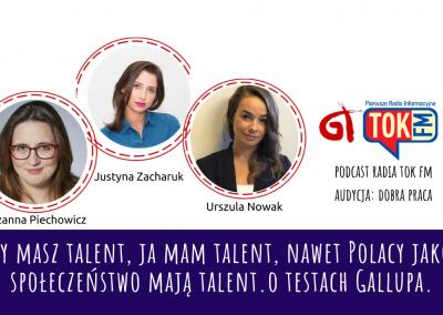 Ty masz talent, ja mam talent, nawet Polacy jako społeczeństwo mają talent. O talentach Gallupa.