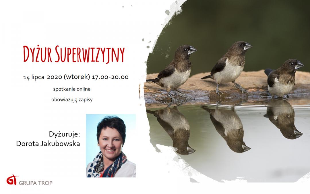 Dyżur superwizyjny online – 14.07.2020, 17.00-20.00