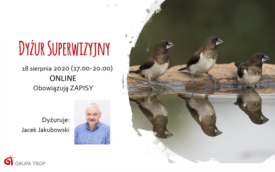 Dyżur superwizyjny online – 18.08.2020, 17.00-20.00