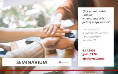 Zaproszenie naseminarium dla liderów ipracowników HR 6.11.2020