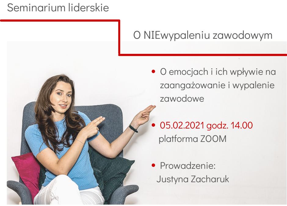 """""""ONIEwypaleniu zawodowym"""" seminarium liderskie – 05.02.2021 godz: 14:00-15:00"""