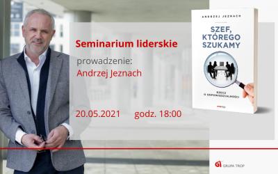 """Seminarium liderskie """"Turkus – todziała! Niestety niezawsze"""" 20.05.2021 g. 18:00-20:00"""