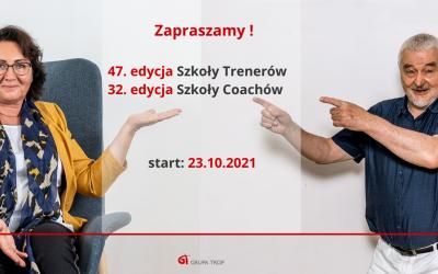 Kolejne edycje Szkoły Trenerów iSzkoły Coachów ruszają 23 października 2021